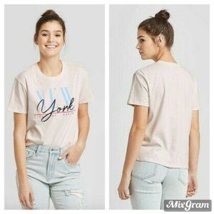 New York City Of Dreams Graphic T-Shirt Pink XL